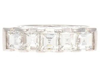 1.50 ct. Asscher Cut Diamond Platinum Ring