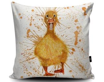 Duck Cushion, Duck Pillow, Duckling Cushion, Baby Cushion, Yellow Cushion, Duckling Pillow, Duck Pillow Case, Garden, 45cm/60cm, Vegan Suede