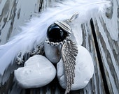 Final Fantasy Jewelry - Sephiroth Necklace - Black Materia - Final Fantasy 7 - Sephiroth Materia - One Winged Angel - Mako Necklace featured image