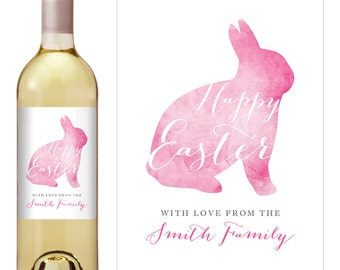 Easter wine label baby shower wine label easter table easter wine label personalized easter labels easter labels holiday wine label easter negle Images