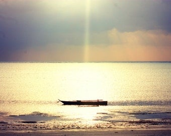 Wooden Boat | Paje | Tanzania | Home Decor | Wall Art | Fine Art Photography | Print | Matted
