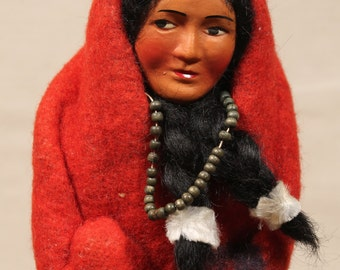 "1950s Skookum ""Bully Good Indian"" Native American Figurine"