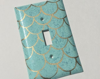 Mermaid Scales Single Toggle Light Switch Plate Wallplate
