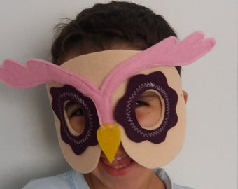 Kids Owl Mask-Halloween Costume-child or adult size costume
