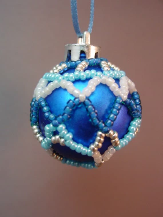 Mini Beaded Christmas Ornament Cover Pattern Collection #1 ...