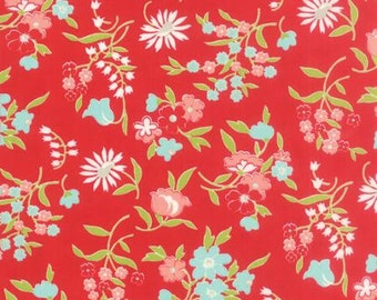 Last 1/2 yard VINTAGE PICNIC by Bonnie and Camille for Moda Fabrics Playful Red