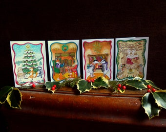 Woodland animals Christmas cards