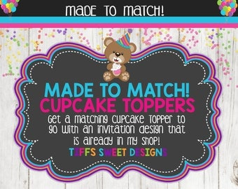 Made to Match Party Printable Cupcake Toppers