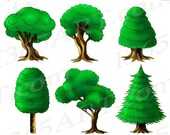 50% OFF SALE Tree Clipart...