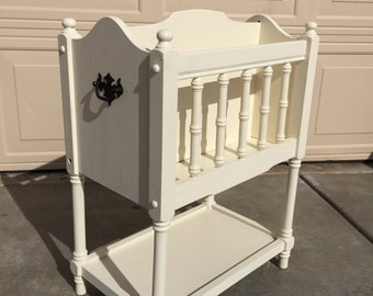 Vintage Shabby Chic Magazine/Book Rack. No Shipping Pick-Up Only!!