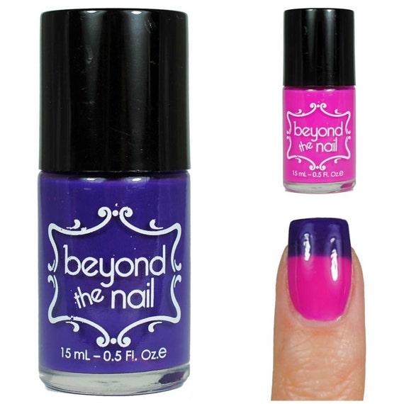 Pink Purple Nail Polish: Purple To Pink Thermal Color Change Nail Polish