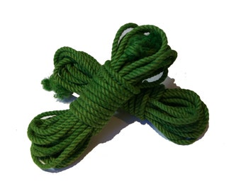 Emerald Green 1 Hank of Jute Rope for Shibari