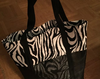 B & W Animal Print Tote Bag