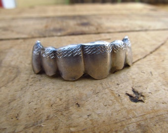 Vintage Silver Teeth Cover - Tooth Grill - Silver Tooth Jewelry