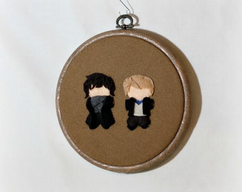 Consulting Detective and Dr. Watson Hoop Wall Art -- Officially Unofficial fandom art