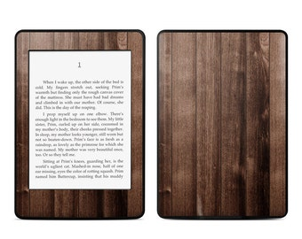 Amazon Kindle Skin - Stained Wood - Sticker Decal - Fits Paperwhite, Fire, Voyage, Touch, Oasis