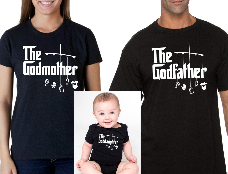 godmother or godfather shirt goddaughter onesie or t-shirt