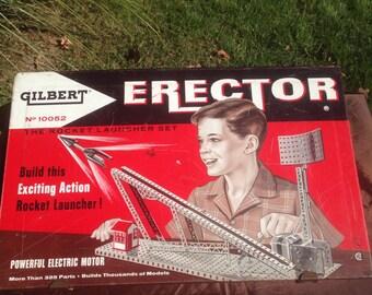 Rocket Launcher Erector Set by Gilbert 1950s .