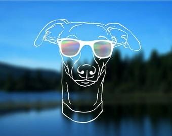 "Whippet Decal, Greyhound, Italian Greyhound, Dog, Vinyl Decal, Car Decal, Bumper Sticker, 5"" decal"