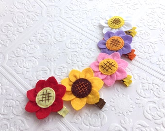 The Sunflower Felt Headband or Hair Clip