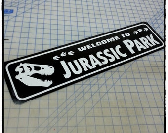 Welcome to Jurassic Park Aluminum Sign