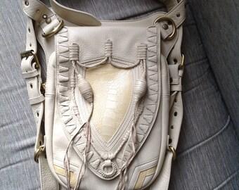 Leather holster, leather utility belt, festival belt, steam punk belt, tribal jungle, navaho, messenger bag