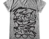 Glasses graphic print   Women's Round neck T-Shirt