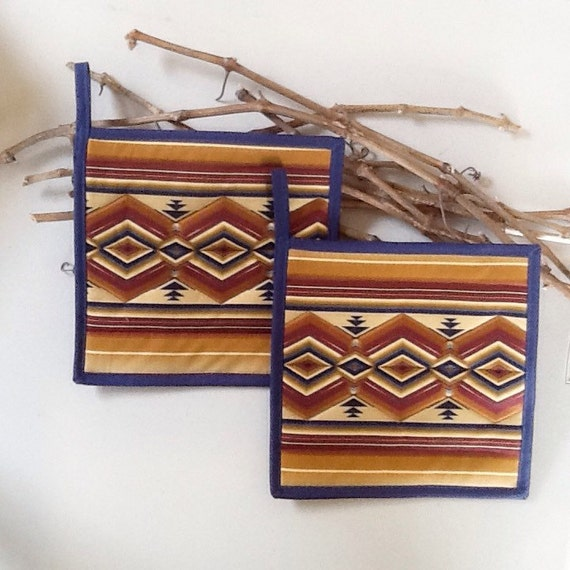 Items similar to southwestern potholders quilted for Native kitchen designs and decors photos