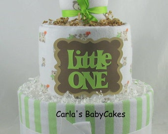 Baby diaper cake | Baby shower decoration | Baby shower gift | Unique baby gift | Neutral diaper cake | Baby sprinkle gift | New mom gift
