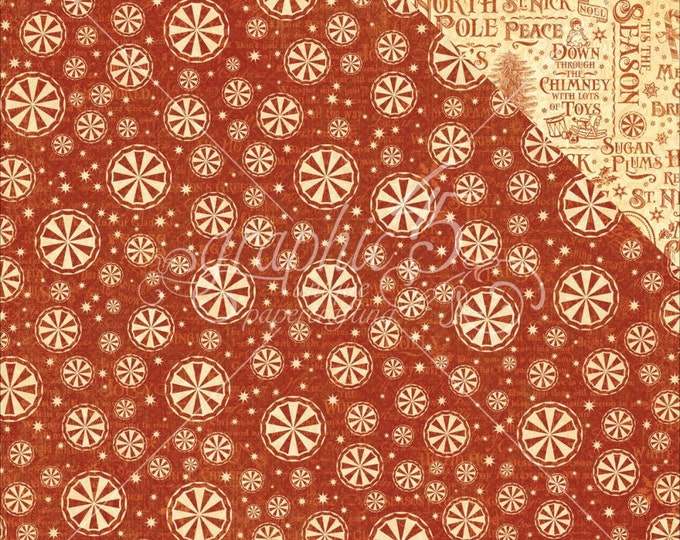 2 Sheets of ST. NICHOLAS Christmas Scrapbook Paper by Graphic 45 - Sweet Tooth