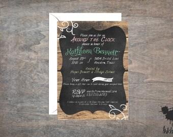 Chalkboard Shower Invitation (25 Invitations)
