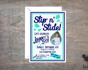 Slip n' Slide Invitation (25 Invitations)