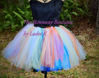 Tulle TuTu skirt with matching lining and Elastic waist band
