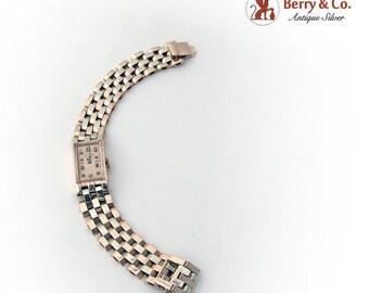 SaLe! sALe! Paul Ditisheim 14K Rose White Gold Bracelet Watch