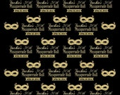 Masquerade Ball Backdrop, Mask party,  30th Birthday Party, Faux Gold letter, Golden Birthday, Masquerade party decor