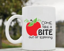 Slap-Art™ Come take a bite out of learning 11oz coffee mug cup