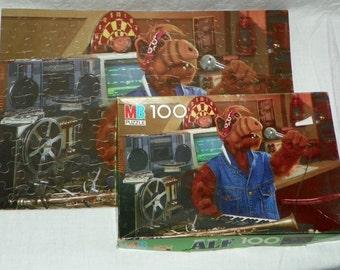 vintage 1987 ALF Singing Music 100 piece Jigsaw Puzzle Milton Bradley Alien Productions 4859-4 Complete
