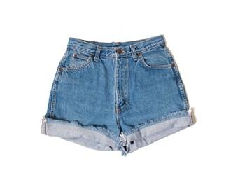 Vintage High Waist Denim Cut off Shorts Size 4