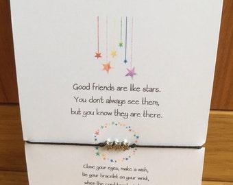 Wish Charm Bracelet Friendship Bracelet Friend Gift