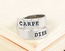 Carpe Diem Ring - Sun - Adjustable Aluminum Wrap Ring