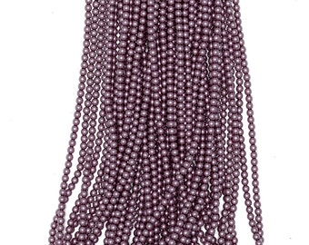 2mm Czech Glass Pearl - 70428 Lilac/Orchid x 300pcs