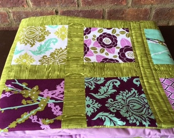 Joel Dewberry Aviary Quilt in Lavendar and Green