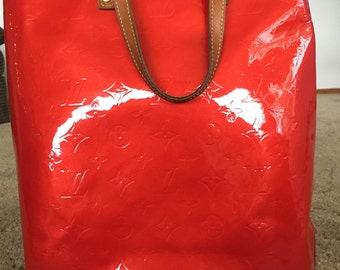 Authentic Louis Vuitton Red pattent leather bag