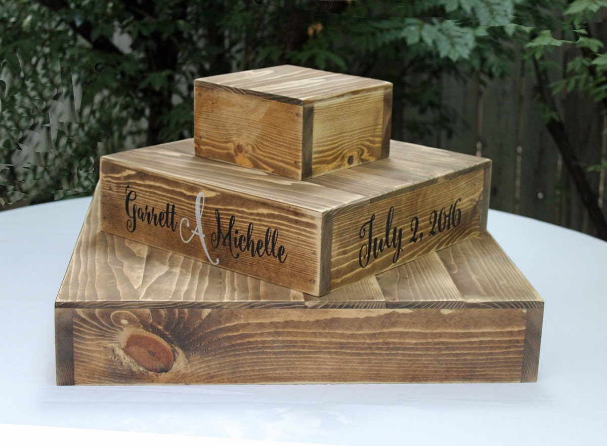 Rustic Wedding Wood Cake Stand: Wood CUPCAKE Stand RUSTIC WOODEN Wedding Cake Stand