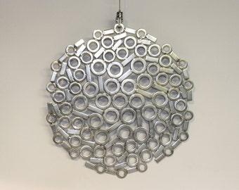 "Stainless steel metal wall art ""Spin out"""