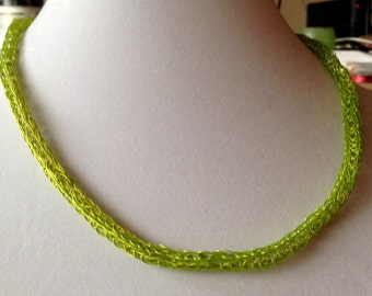 Chartreuse Viking Weave Necklace