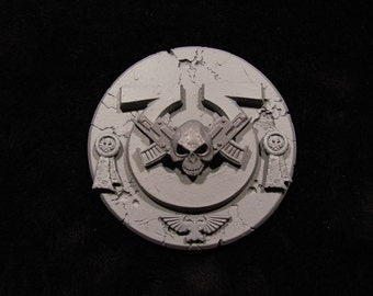 Warhammer 40K ULTRMARINES Space Marine BADGE <Custom Painted to Order>  *Upgradable* to a Pin Badge~Pendant~Magnet~Zip Puller or Cuff Links