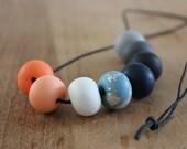 Tash - polymer clay bead necklace