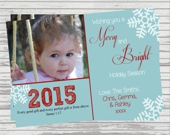 Holiday/Christmas Custom DIGITAL 4x6 or 5x7 Photo Card