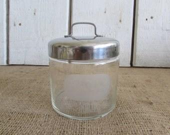 Kalon Medical Storage Jar with Lid, Vintage Kalon Medical Storage Jar w Lid, Vintage Medical Items, Old Kalon Medical Items, Medical Items
